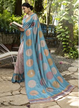 Bedazzling Multi Colour Printed Saree
