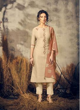 Beige Reception Party Wear Kurti