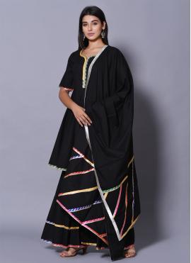 Best Black Block Print Salwar Suit