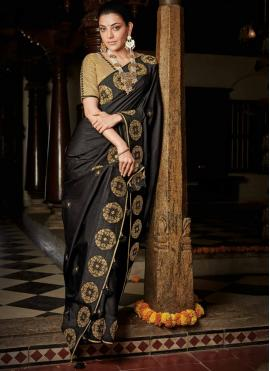 Black Ceremonial Designer Saree
