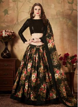 Black Color Trendy Lehenga Choli