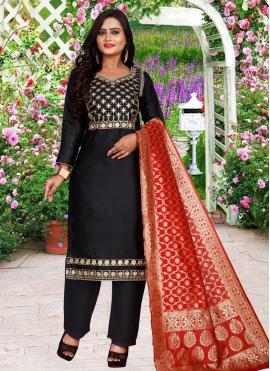 Black Embroidered Salwar Suit