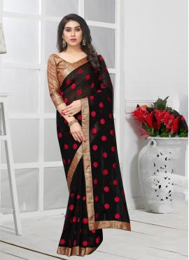 Black Lace Trendy Saree