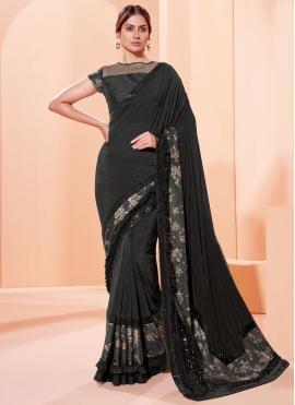 Black Mehndi Trendy Saree