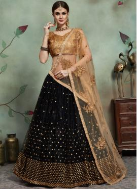 Black Sequins Reception Trendy Lehenga Choli