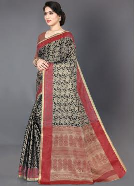 Black Silk Trendy Saree