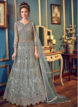 Blissful Grey Fancy Fabric Bollywood Lehenga Choli