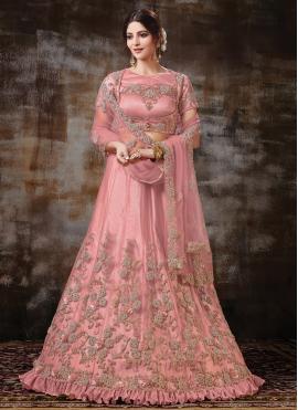 Blissful Pink Embroidered Lehenga Choli