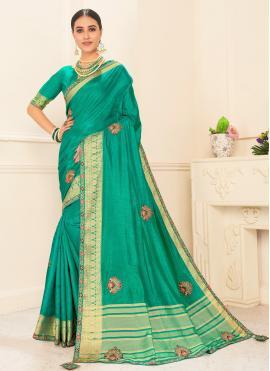 Blissful Poly Silk Traditional Designer Saree