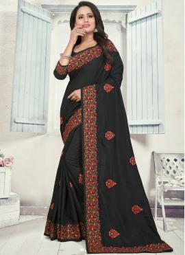 Blissful Silk Stone Work Classic Designer Saree
