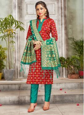 Blooming Art Banarasi Silk Festival Salwar Suit