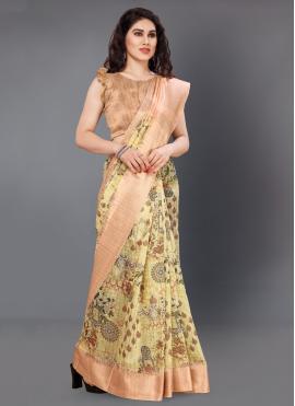 Blooming Digital Print Silk Multi Colour Printed Saree