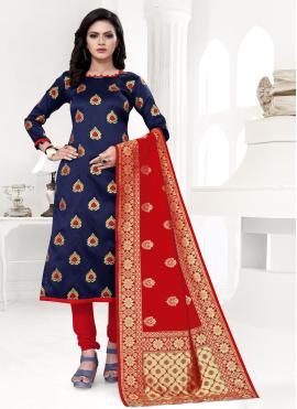 Blooming Weaving Churidar Suit