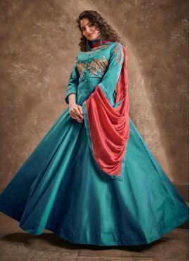 Blue Color Readymade Anarkali Salwar Suit