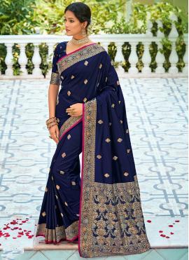 Blue Festival Silk Saree