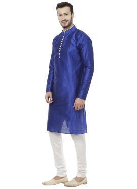 Blue Plain Sangeet Kurta Pyjama
