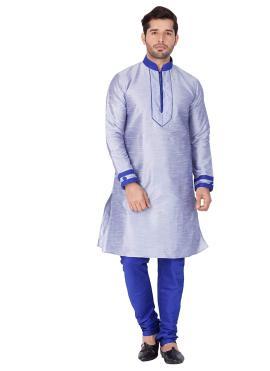 Blue Reception Kurta Pyjama