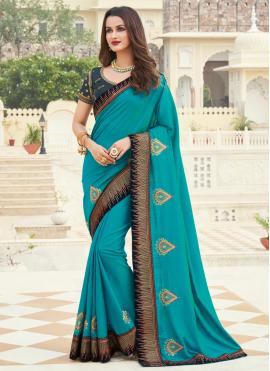 Blue Silk Designer Saree
