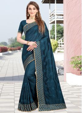 Blue Silk Reception Designer Traditional Saree