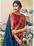 Blue Weaving Tussar Silk Designer Traditional Saree - 1