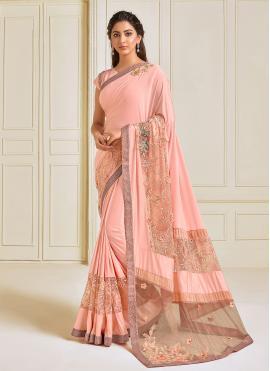 Breathtaking Embroidered Trendy Saree