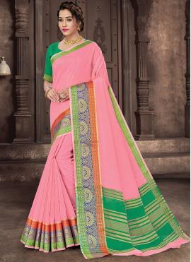 Breathtaking Handloom Cotton Woven Traditional Saree