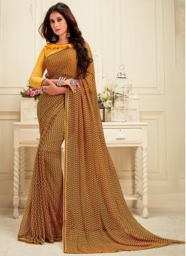 Brown Color Casual Saree