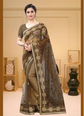 Brown Color Traditional Saree