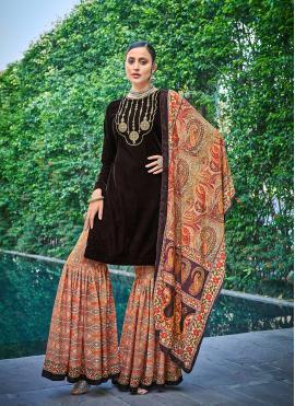 Brown Engagement Designer Pakistani Salwar Suit