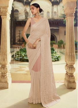Brown Thread Mehndi Classic Saree
