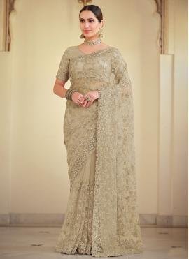 Brown Wedding Bollywood Saree