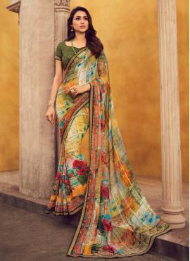 Capricious Lace Casual Designer Contemporary Saree