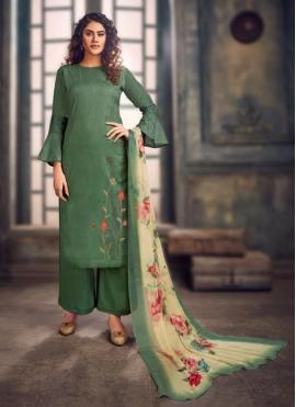 Captivating Green Party Trendy Salwar Kameez
