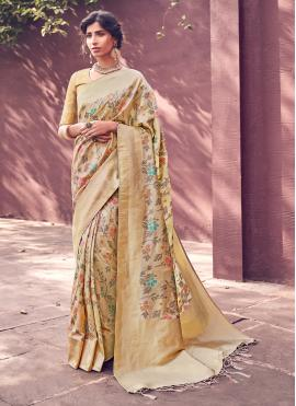 Celestial Banarasi Silk Woven Designer Traditional Saree