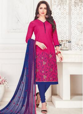 Celestial Embroidered Casual Churidar Suit
