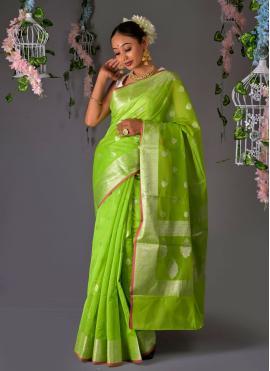 Celestial Green Ceremonial Traditional Saree
