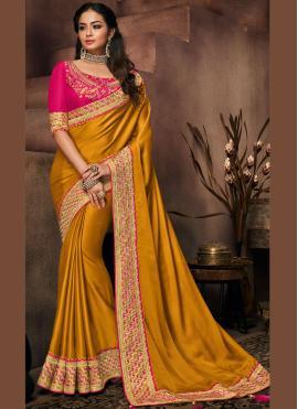 Charismatic Art Silk Mustard Traditional Designer Saree