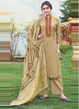 Charismatic Cotton Silk Print Designer Palazzo Suit