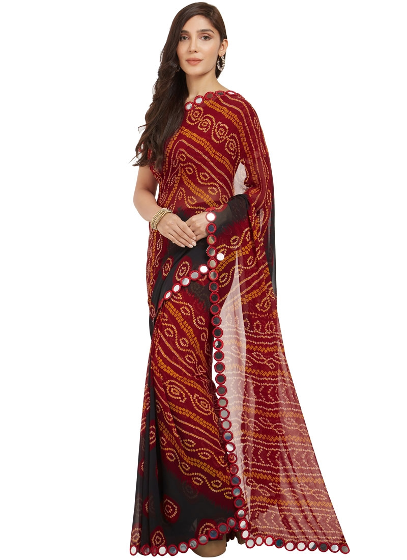 Charismatic Faux Georgette Printed Casual Saree