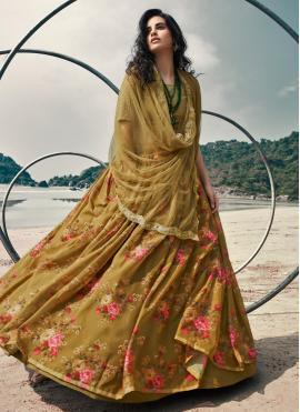 Charming Sequins Mehndi Lehenga Choli