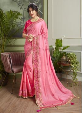 Chitrangada Singh Embroidered Pink Classic Designer Saree