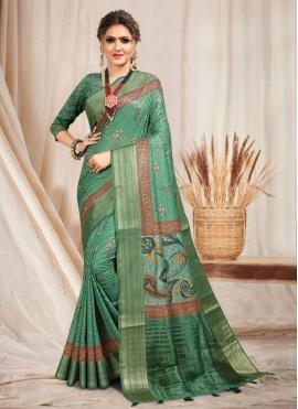 Compelling Cotton Trendy Saree