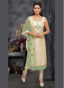 Congenial Embroidered Beige Trendy Salwar Kameez
