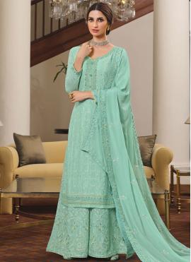 Congenial Rama Designer Palazzo Salwar Suit