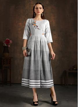 Cotton Black Designer Kurti