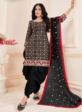 Cotton Black Mirror Designer Suit