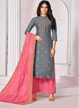 Cotton Blue Bollywood Salwar Kameez