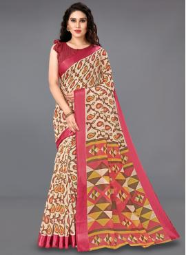 Cotton Casual Saree in Multi Colour
