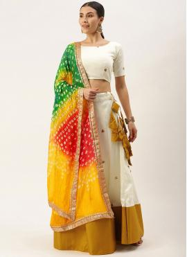 Cotton Designer Lehenga Choli in Off White
