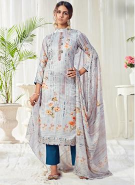 Cotton Digital Print Multi Colour Bollywood Salwar Kameez